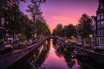 Zonsopkomst in Amsterdam van Erik Hageman