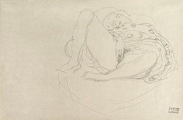 Liegender Akt mit Drapierung, Gustav Klimt (1912-1913)