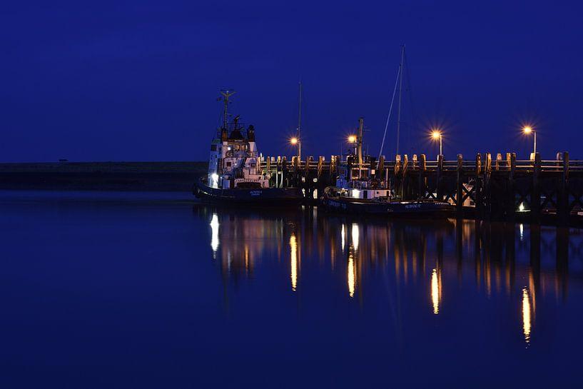 Haven van Terneuzen in de avond van Angelique van Waarde