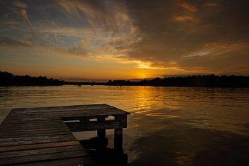 Sonnenuntergang am Hornsee von Lucas Planting