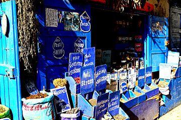kruiden in blauw Marokko van joyce kool