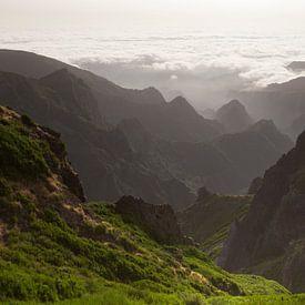Ruig gebergte op het eiland Madeira van Paul Wendels