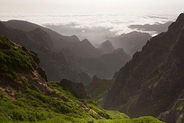 Ruig gebergte op het eiland Madeira van