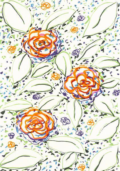 Water bloemen van Eva van den Hamsvoort