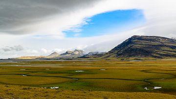 Weite Sumpflandschaft auf Island von Denis Feiner