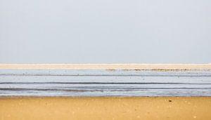 Landschap van lijnen bij de Waddenzee.