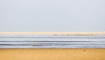Landschaft von Linien am Wattenmeer von Ron Poot