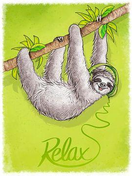 Relax Faultier von Stefan Lohr