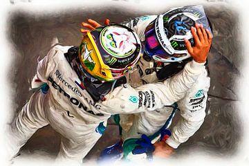 Team Spirit - Bottas  and Hamilton van Jean-Louis Glineur alias DeVerviers