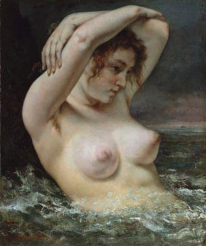 De vrouw in de golven, Gustave Courbet...