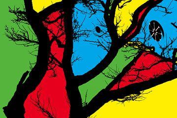 Komposition mit Farbflächen von