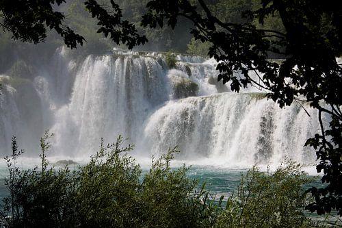 Wasserfall Skradinski buk Krka Nationalpark  van