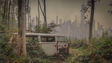 Car in the jungle von Anya Lobers