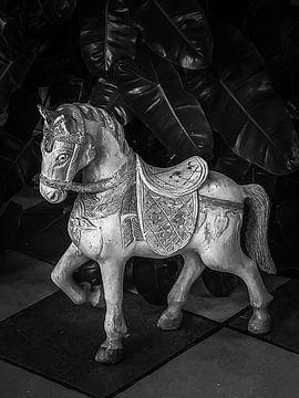 Brocante houten paard van