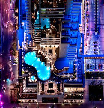 Purpurrotes und blaues Pool von Rene Siebring