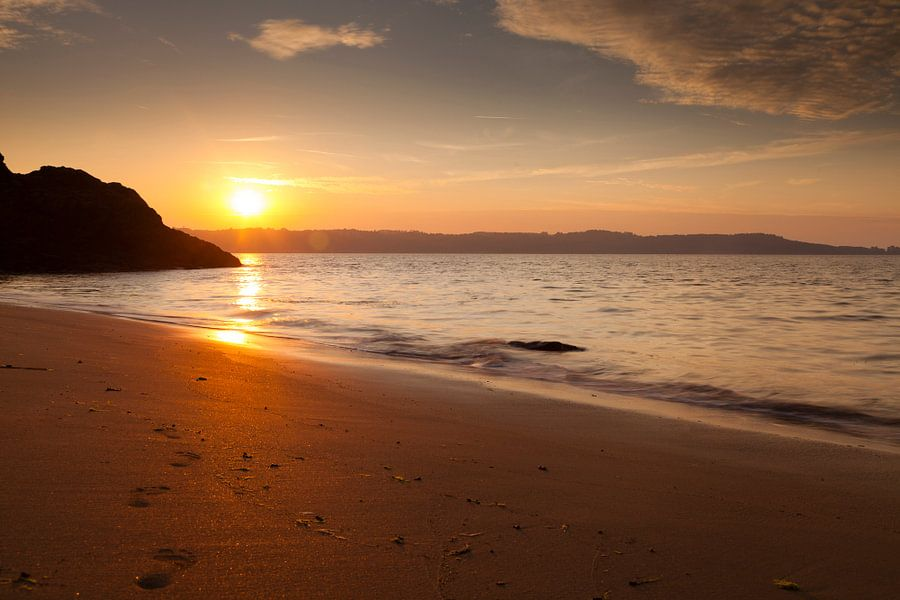Zonsondergang Bretagne