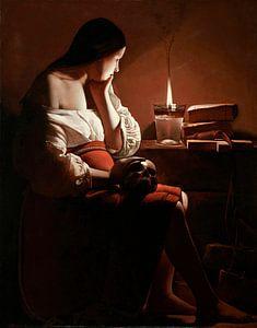 Die Magdalena mit der rauchenden Flamme, Georges de La Tour