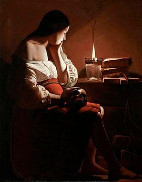 La Madeleine à la flamme fumante, Georges de La Tour