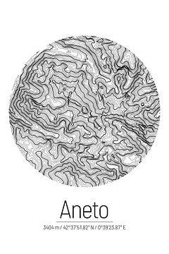 Aneto | Topographie de la carte (minimum) sur City Maps