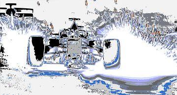 Vonken Regen in de formule 1 van ! Grobie