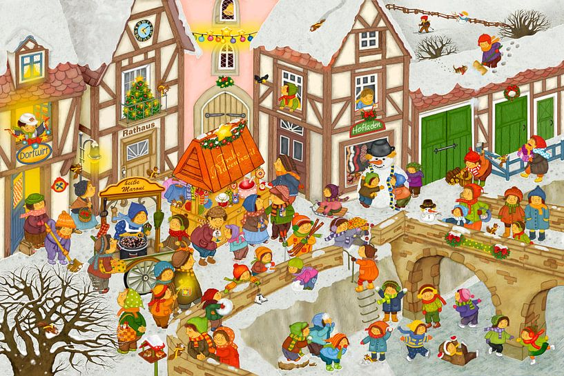 Mein Dorf im Winter von Marion Krätschmer