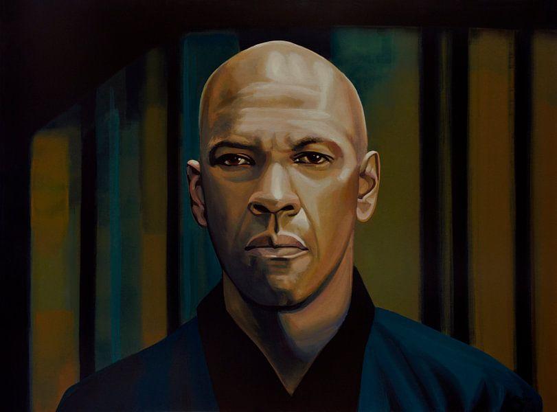 Denzel Washington schilderij van Paul Meijering