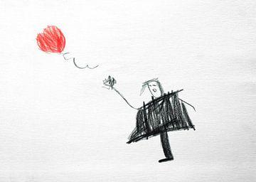 Ballon Meisje van Feike Kloostra