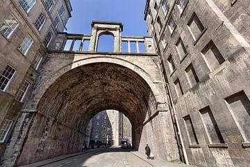 Alte Carlton Street und Viadukt in Edinburgh von Peter de Kievith Fotografie