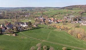 Luchtfoto van Mechelen in Zuid-Limburg van John Kreukniet