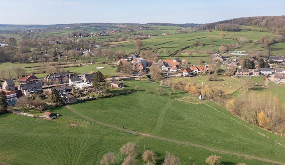 Luchtfoto van Mechelen in Zuid-Limburg