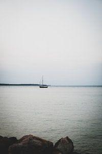 Fischerboot bei Sonnenuntergang
