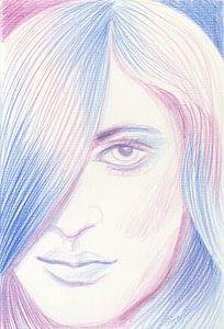 Blauw en roze haar van