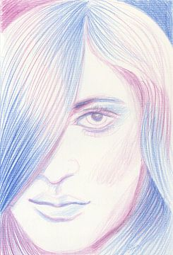 Blauw en roze haar van ART Eva Maria