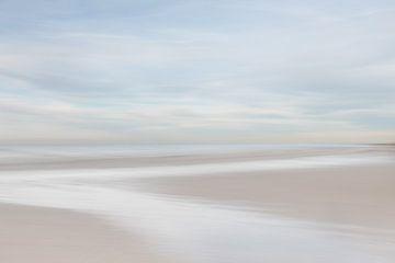 Zen aan het Pastel kleurig strand van