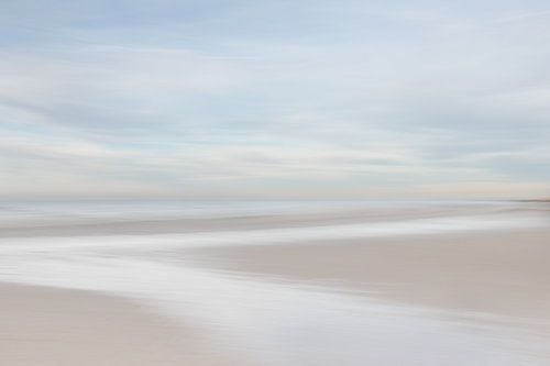 Zen an den pastellfarbenen Strand von