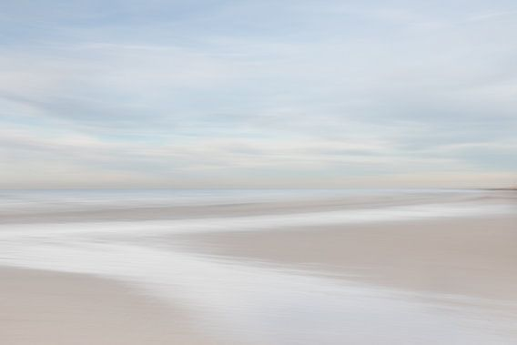 Zen aan het Pastel kleurig strand