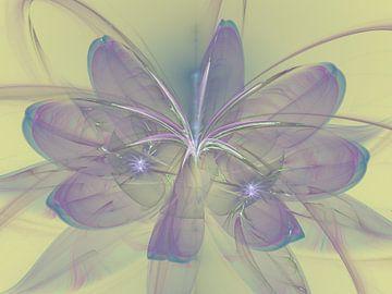 Lotus bloem van Bernardine de Laat