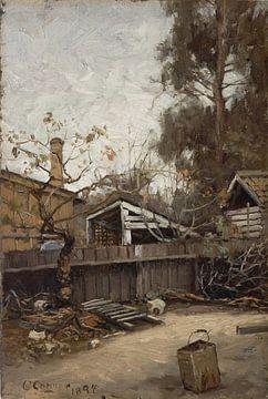 Charles Conner~Ein kalifornischer Hinterhof
