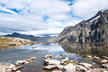 See auf einem Gletscher im Sommer von Jacqueline Groot
