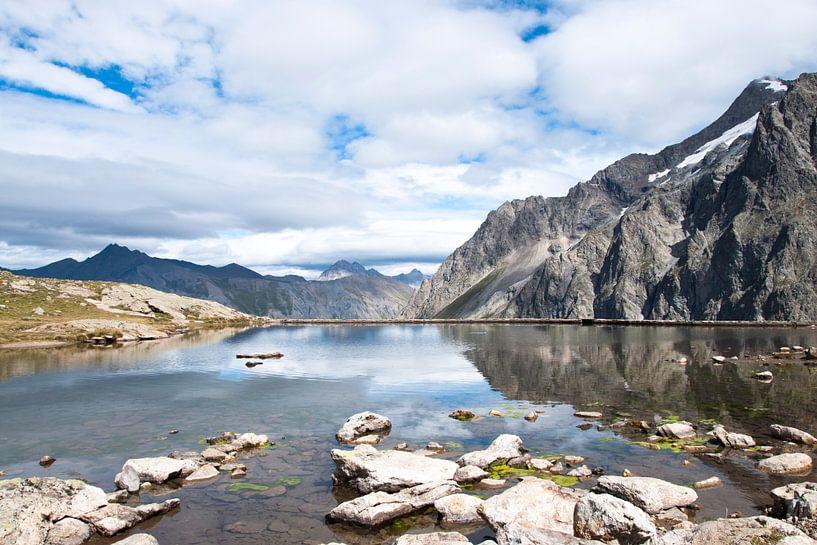 Meer op een gletsjer in de zomer van Jacqueline Groot