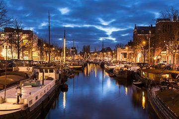 Winterwelvaart zicht op de Noorderhaven_2016 van Ronnie Schuringa