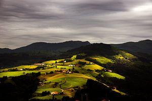 Basque mountainview, Zicht op Baskisch berglandschap