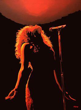 Shakira Schilderij von Paul Meijering