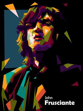 John frusciante in wpap popart van miru arts