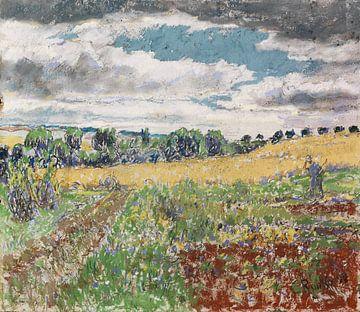 Zomerlandschap, Christian Rohlfs, 1899 van Atelier Liesjes