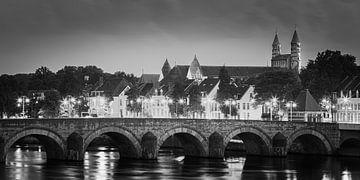 Sint Servaasbrug in zwart-wit