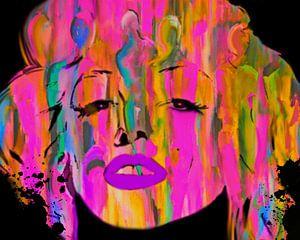 Mariyln Monroe People Abstrakt Pop Art PUR
