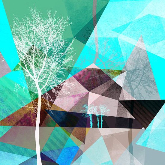 P16 TREES AND TRIANGLES van Pia Schneider