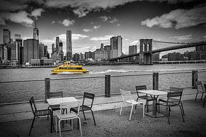 NEW YORK CITY Walking along the River Bank