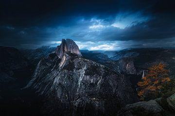 Half Dome donderstorm van Joris Pannemans - Loris Photography